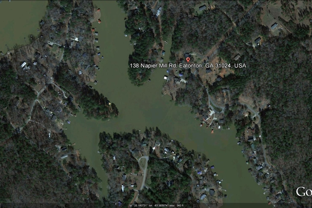 lake sinclair home aerial