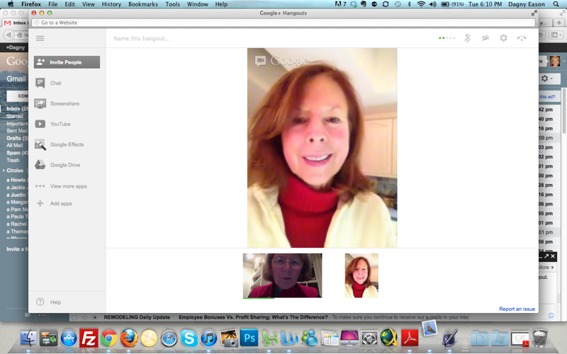 AR Google Hangout from RI At Meet Up in Wilton CT