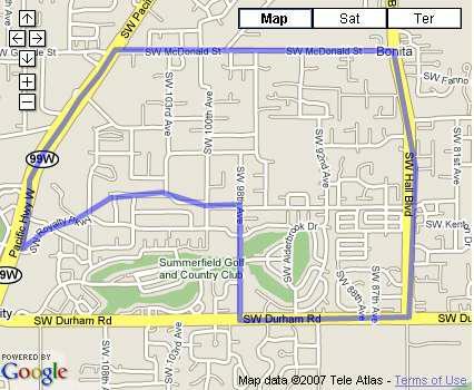 Mountainview Neighborhood Map, Tigard, Oregon