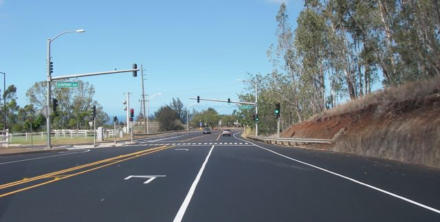 Kula Highway gets resurfaced, all nice and smooth now in Kula Maui HI 96790