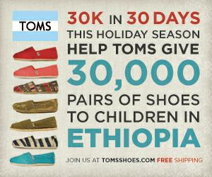 Help Toms Shoes hit their goal