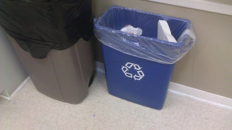 Recycling containers in every room