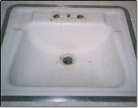 tile reglazing westchester NY - sink before