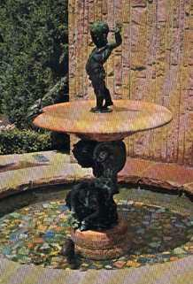 boy and frog fountain