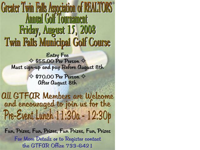 Twin Falls Golf Tournament