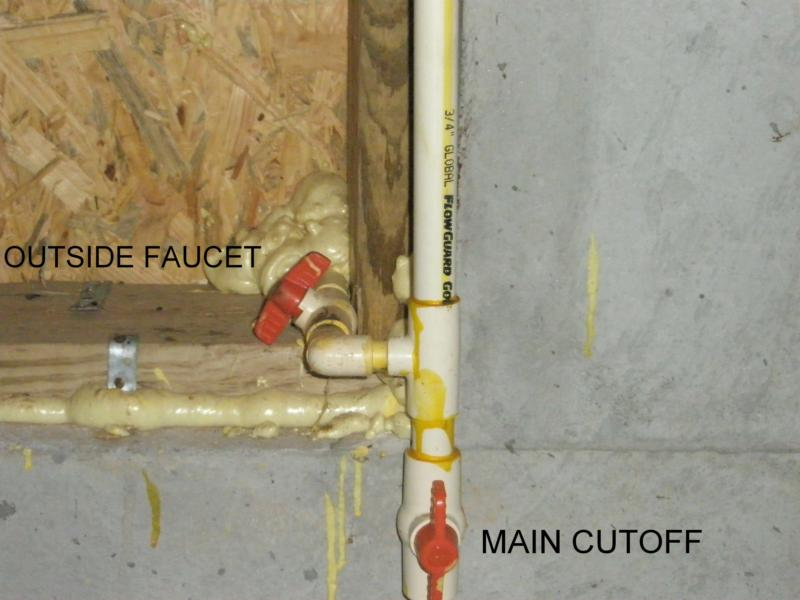 Water cut-off valves