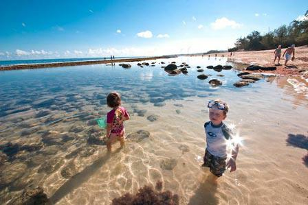 Baby Beach area of Baldwin Beach in Spreckelsville Maui