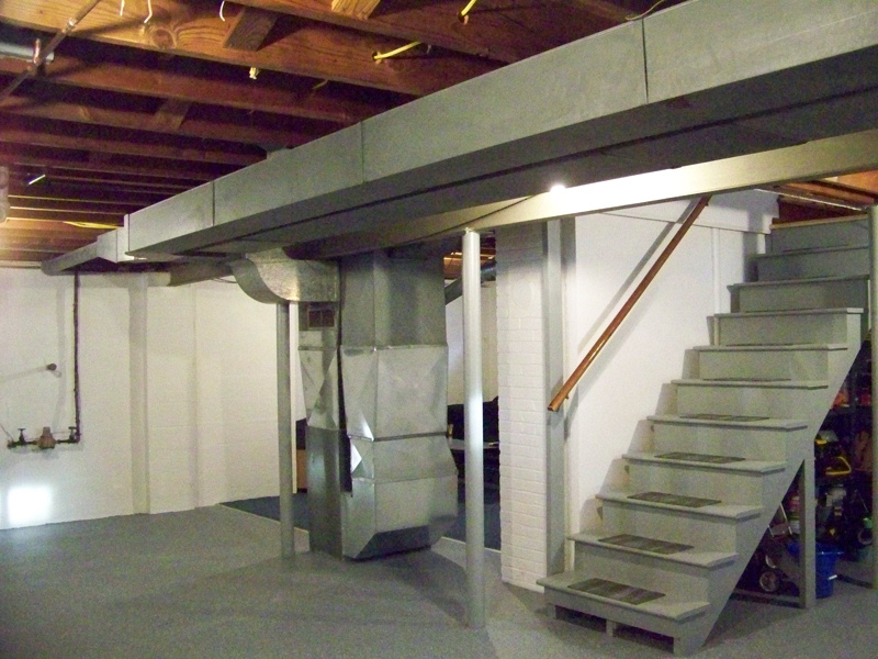 Large unfinished basement but ready for your ideas: