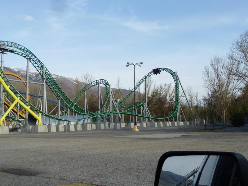 farmington  utah u0026 39 s lagoon amusement park in infrared