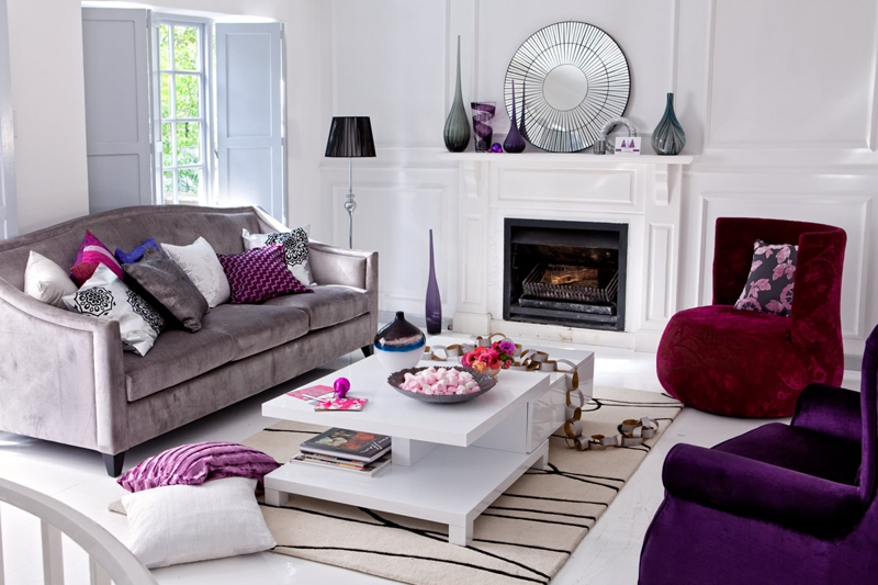 Color palette for your home jewel tones - Jewel tone living room ...