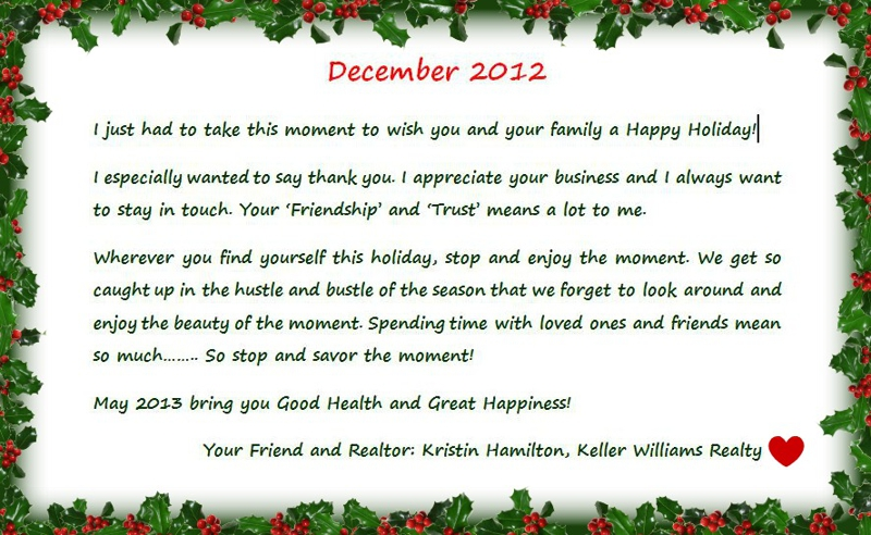 Happy Holiday Card created to Send to my Clients