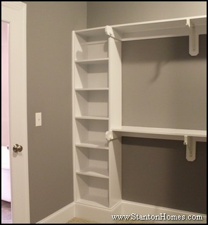 New home master bedroom closet storage and builtin for Simple closet ideas