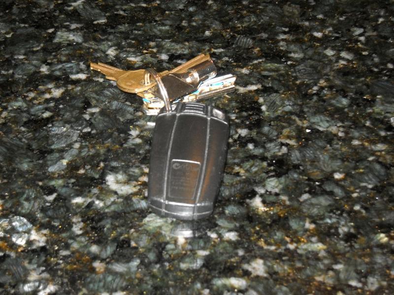 Bob's keys with car key/door opener