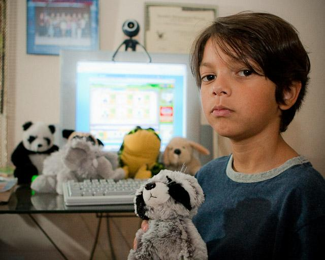 my son with his webkinz