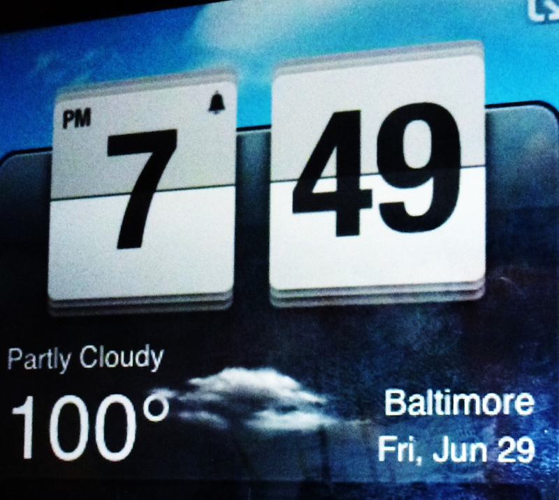 100 degrees in Baltimore 6.29.12