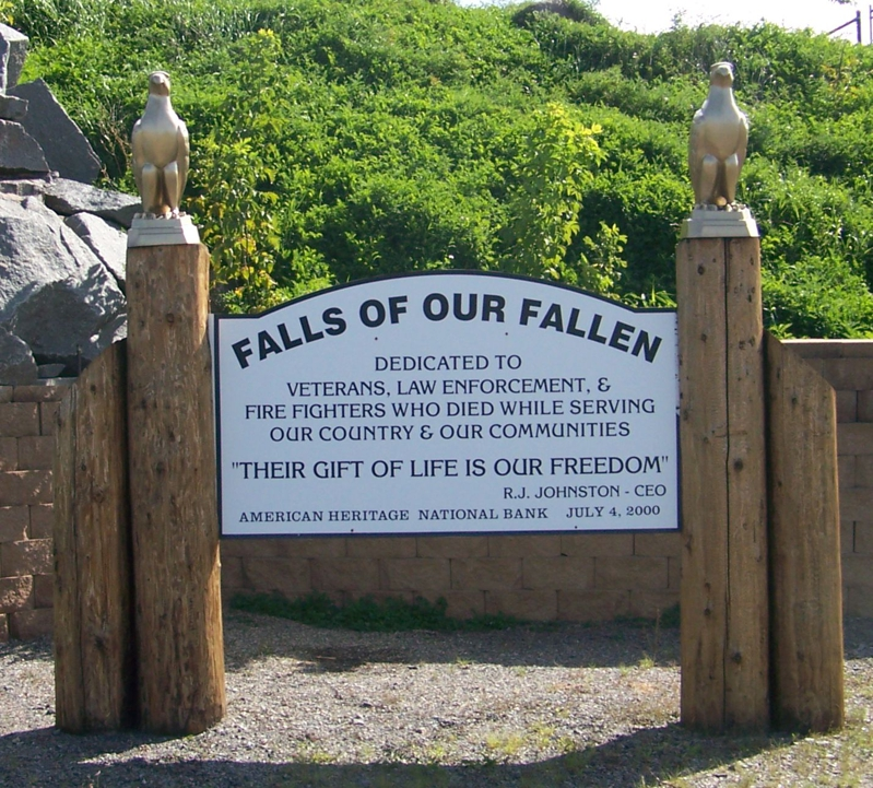 Sign at the Falls of Our Fallen