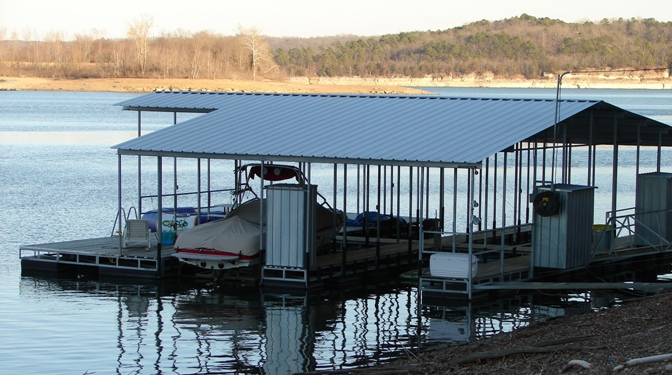Boat Dock - beaver lake home for sale