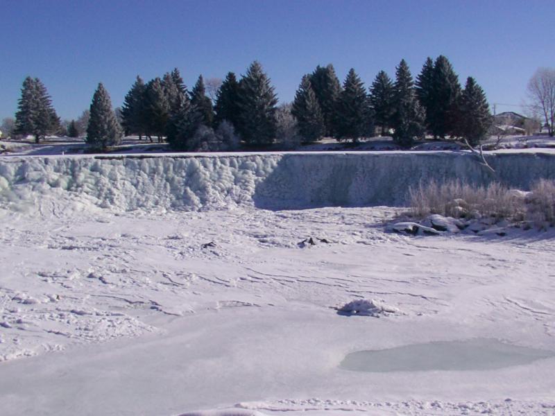 Idaho Falls Idaho frozen falls 2002