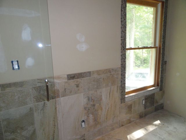 Model Marble Subway Tile Tub Shower Area With A Window  YouTube