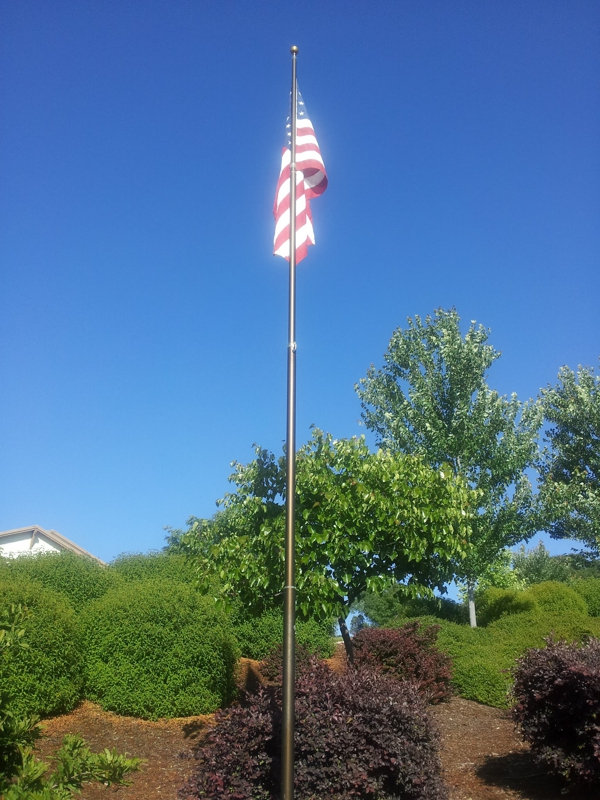 Our flag on Aberdeen Lane, El Dorado Hills