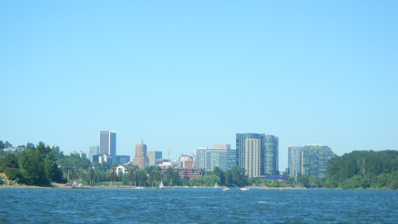 City of Portland from the Willamette River