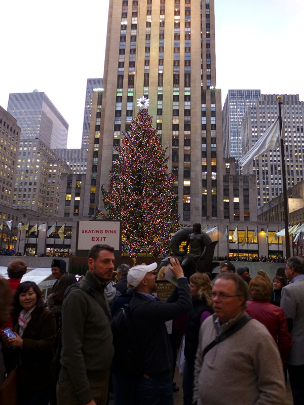 Rockefeller Center Crowd for Christmas Tree