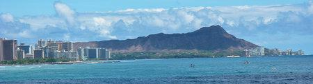 view of Diamond Head from the Superferry