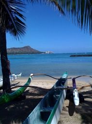 diamond head and outrigger canoe
