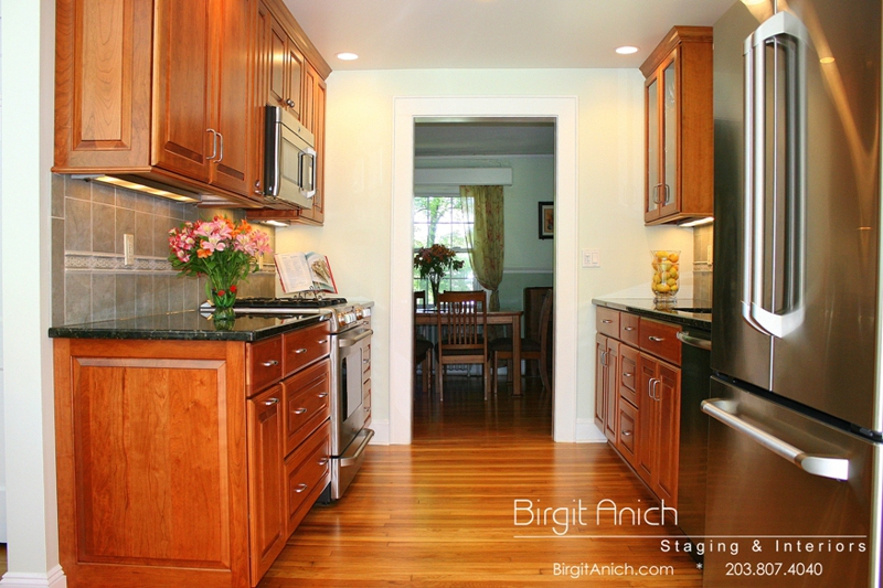 kitchen update in Connecticut Birgit Anich Staging & Interiors