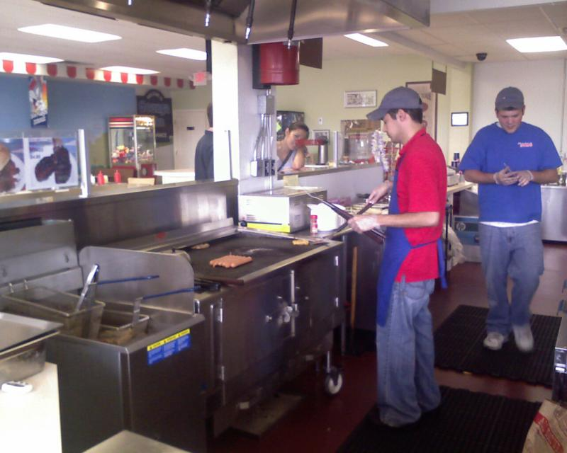 Charcoal Grill at Step Right Up Hudson Ohio