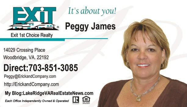 Peggy James business card