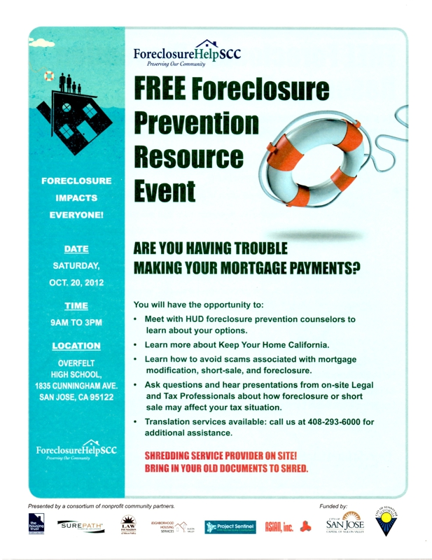 foreclosure prevention resource event