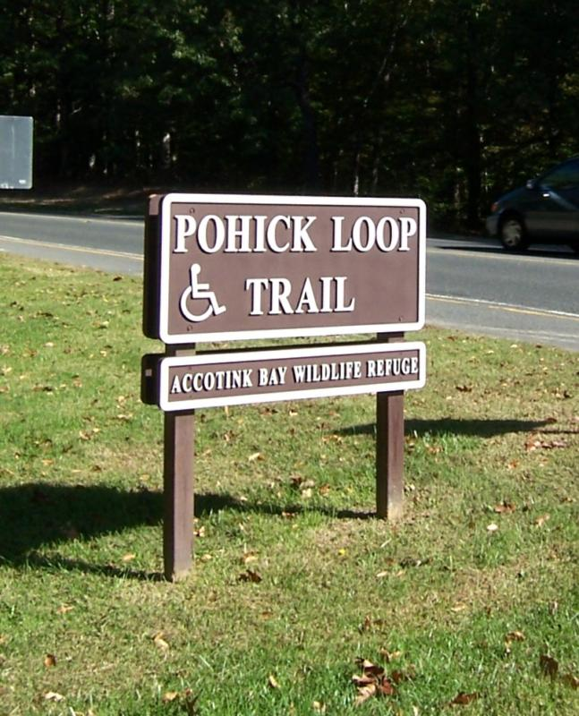Pohick Trail Loop Path Entrance