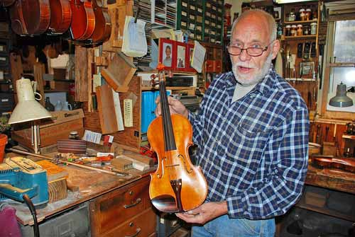 Peter Horn's Violin Made as a student at the famous Mittenwald Violinmakers School