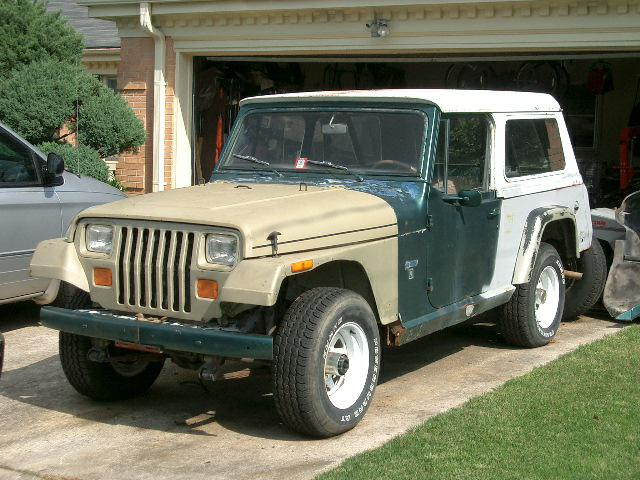 Jeepster Commando with YJ Wrangler front clip
