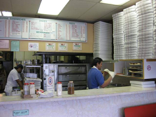 Armando's Pizza Menu and Counter
