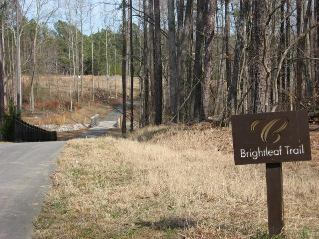 trails in  Copperleaf Subdivision in Cary NC