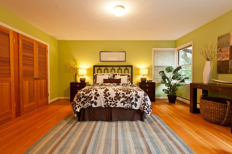 Master Bedroom staged by Synergy Staging in Portland