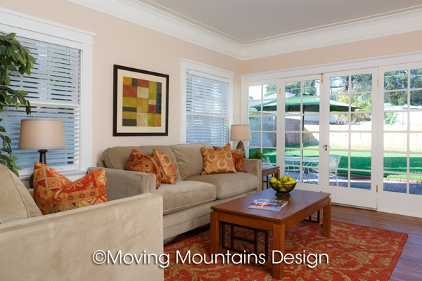 Pasadena home staging family room