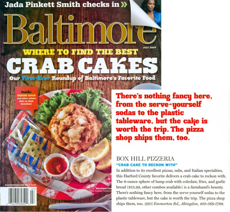 Baltimore Magazine Best Crab Cakes