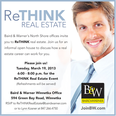 baird warner looking for a career in real estate