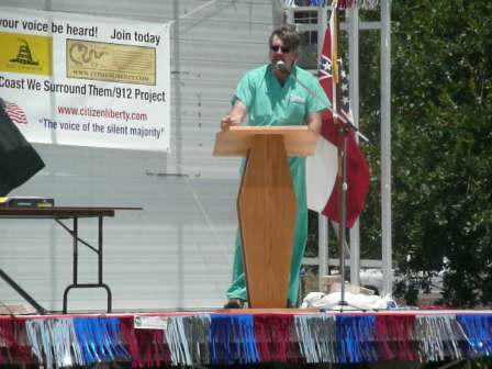 Physician on Health Care Biloxi Tea Party