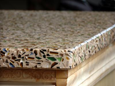 Green Product Recycled Glass Countertops