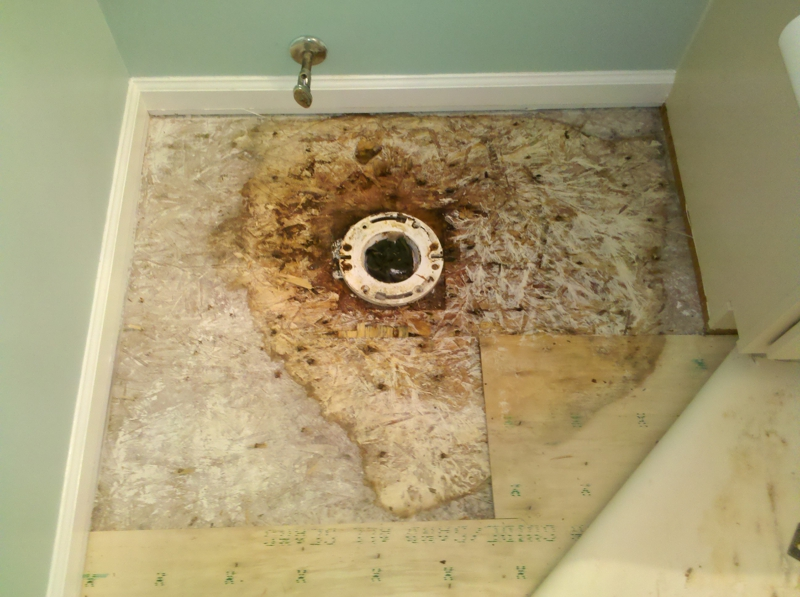 Bathroom Subfloor Repair - Plywood for bathroom subfloor