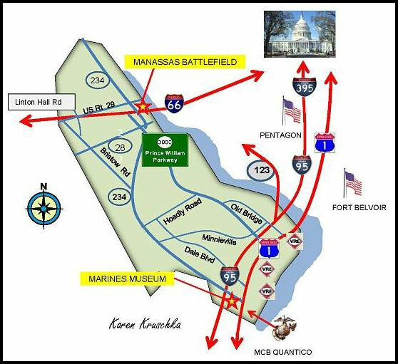 prince williams military. Map of Prince William Military