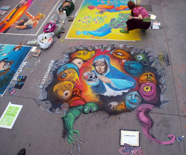 Chalk Art in Denver