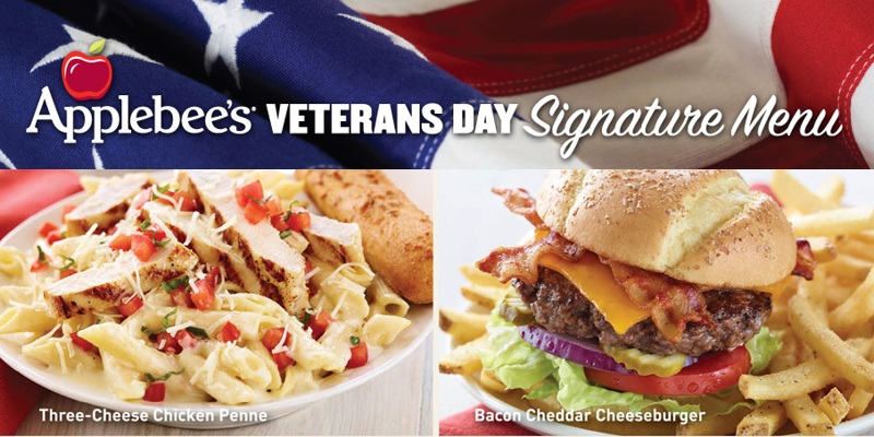 Applebee's Veterans Day Free Meal 2012