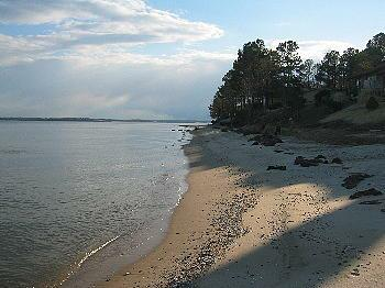 View of Seahorse Beach on the Chesapeake Bay