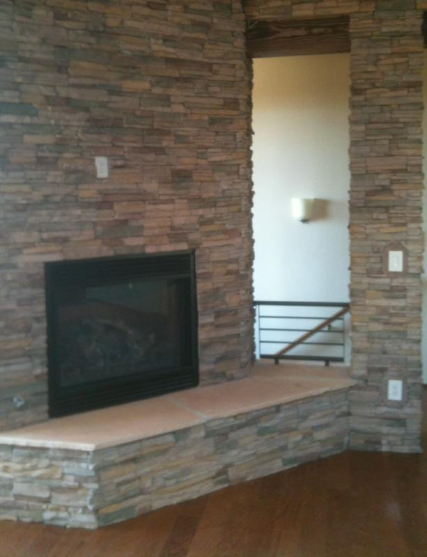 Stone Fireplace at the Legends