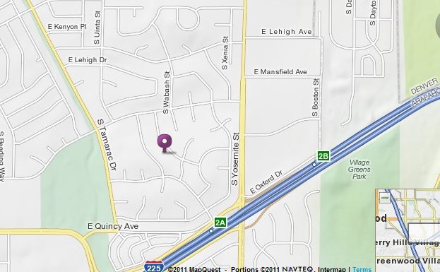 Map to 3977 S. Whiting Way, Denver, CO   80237